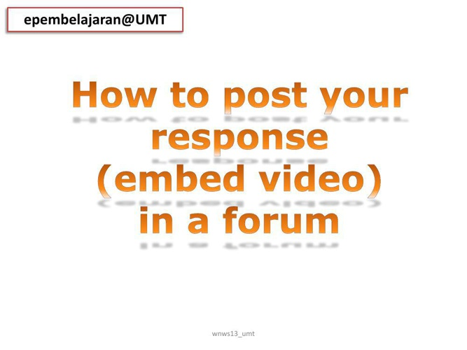Forum:How to post your video