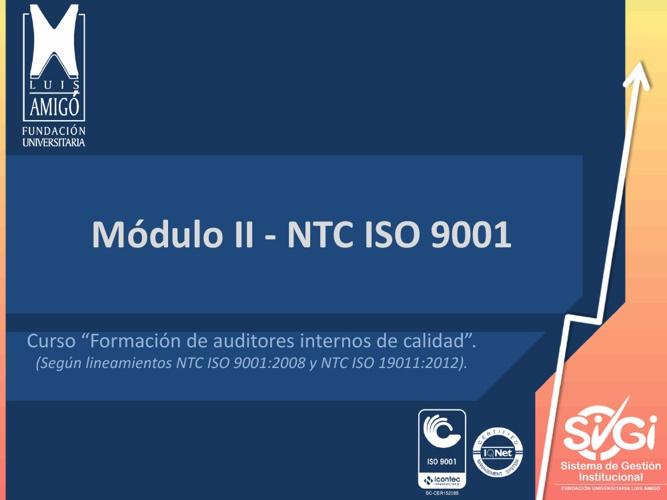 Módulo II - NTC ISO 9001