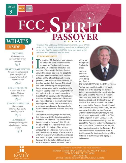 FCC Spirit-Issue 3, March 2013