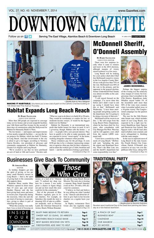 Downtown Gazette     November 7, 2014