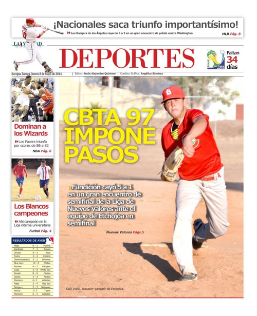 DEPORTES 8 de mayo 2014