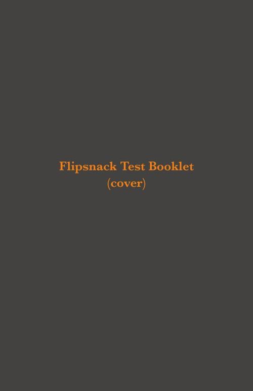FlipSnack Test Book
