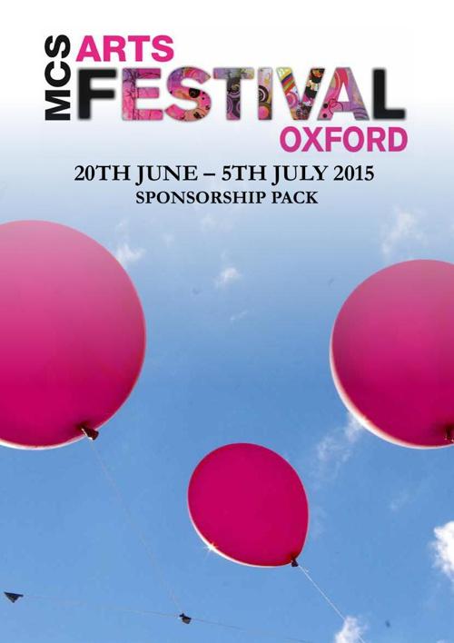MCS Arts Festival Oxford 2015 Sponsorship Pack