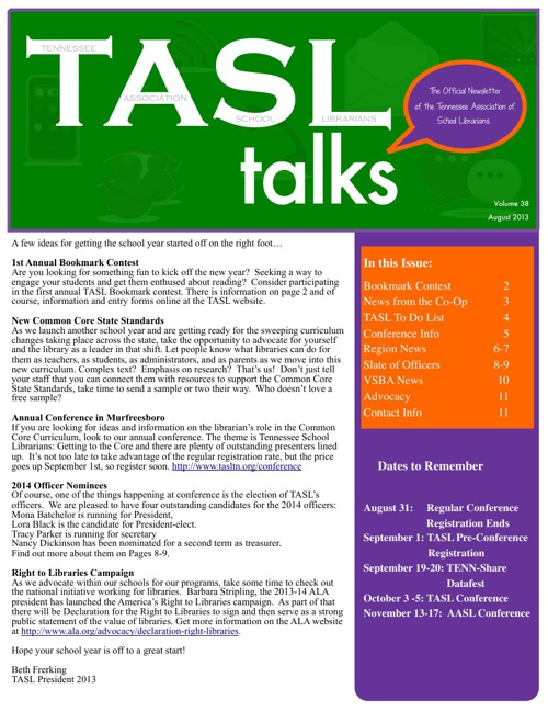 TASL Talks August 2013