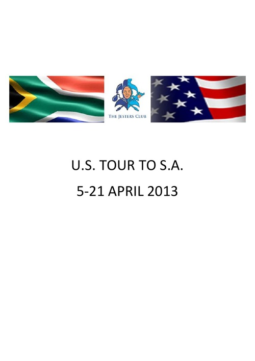 US TOUR TO SA