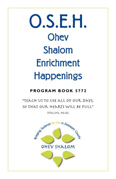 OSEH Program Book