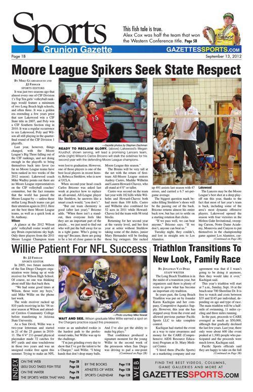 Gazette Sports | September 13, 2012