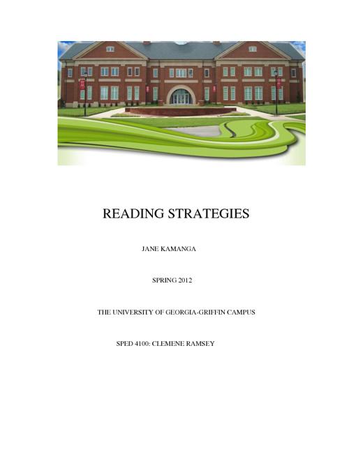 Reading Strategies 4-5 Grades