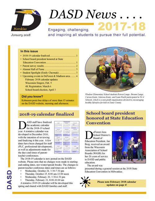 DASD News - January 2018