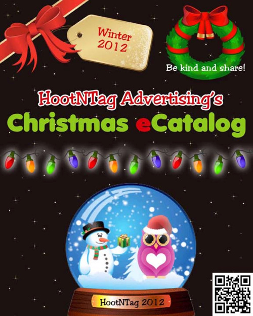 HootNTag Advertising Christmas eCatalog 2012