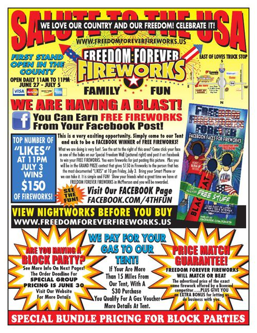 Freedom Forever Fireworks SPECIALS