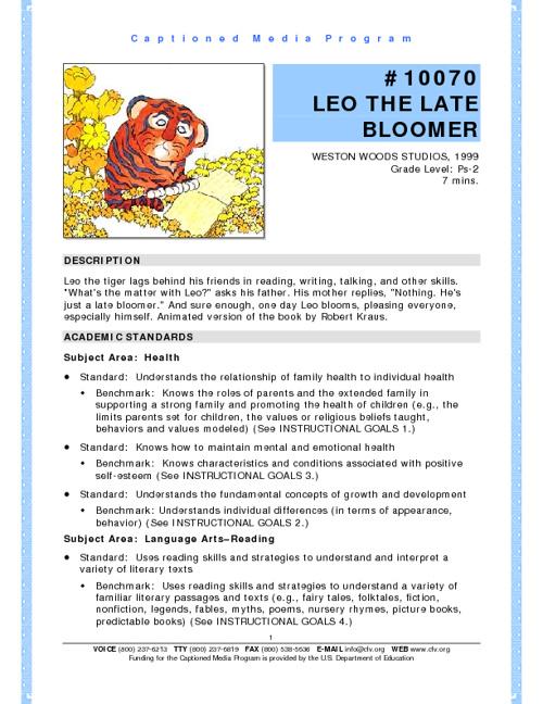 Leo Lesson Plan 2