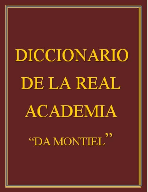 Diccionario Montiel