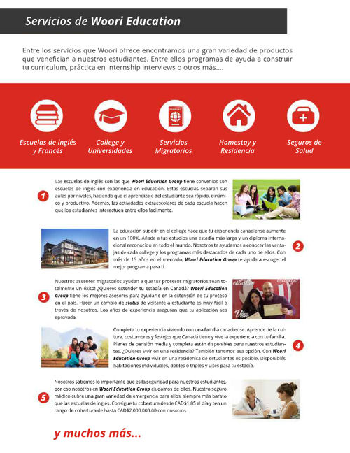 Woori Education Group Brochure 2016