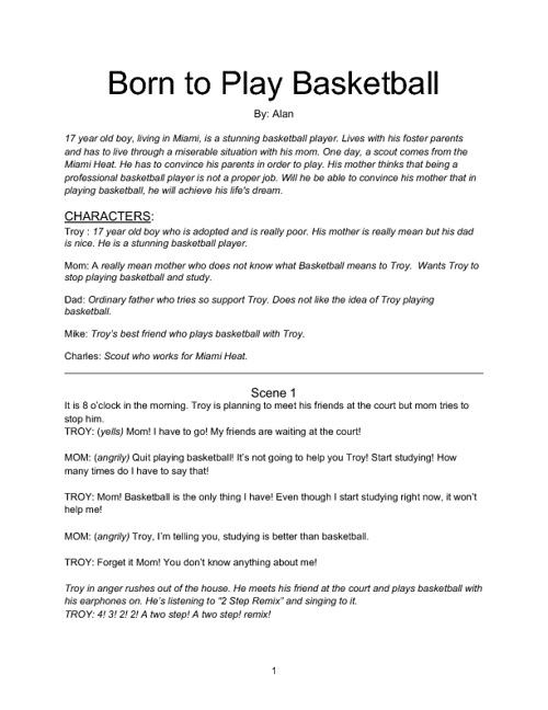 Born to Play Basketball