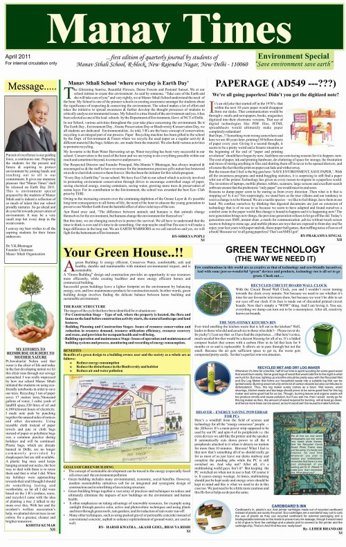 Manav Times April 2011