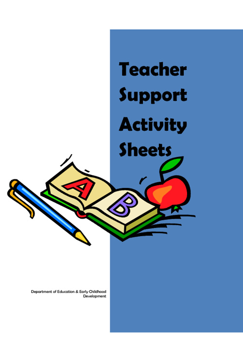 Teacher Support Activity Sheets