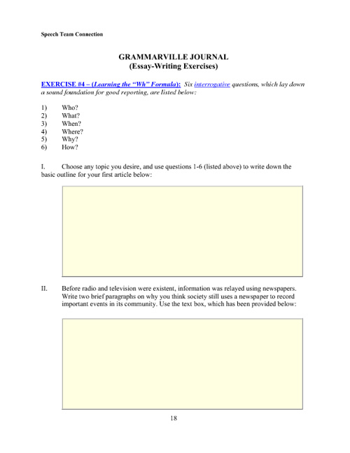Speech Team Book (PDF) - Beginning (L4) Exercises Book I
