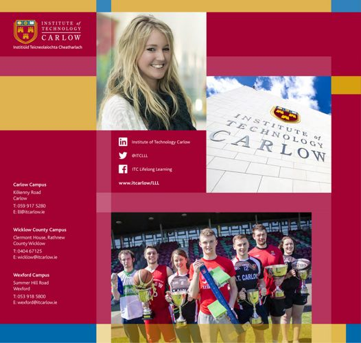 ITCarlow - Carlow Part-Time Prospectus 2017-2018