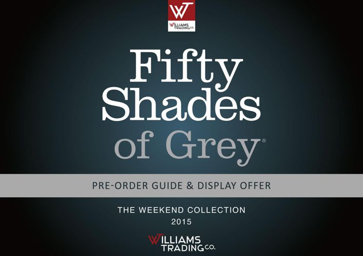 Fifty Shades of Grey Weekend Collection Catalog 2015