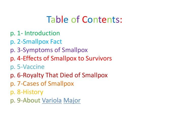 Smallpox by Zoie