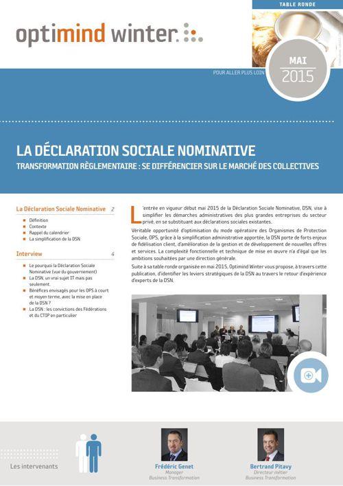 Optimind Winter - La Déclaration Sociale Nominative