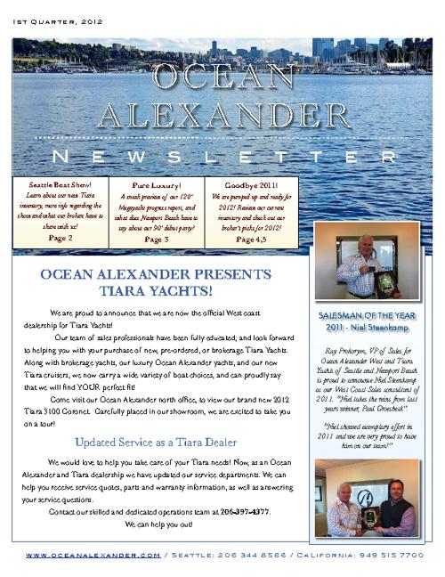 Ocean Alexander Newsletter 1st Quarter 2012