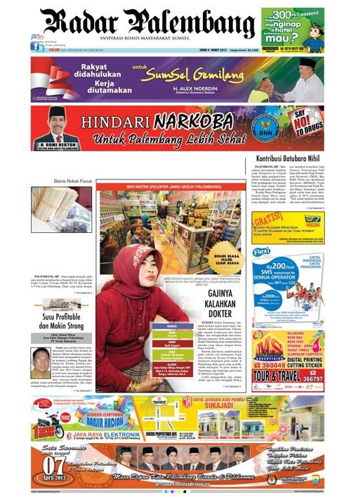 Radar Palembang Edisi 04-03-2013 Koran 1