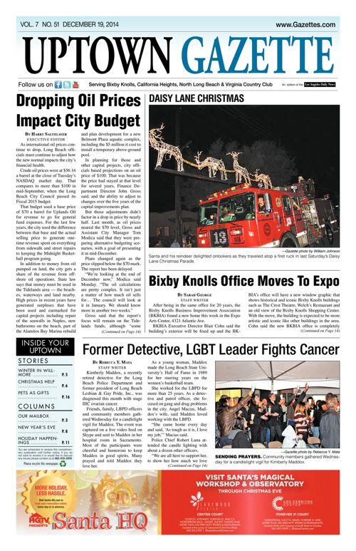 Uptown Gazette     December 19, 2014