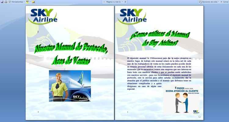 Manual de protocolo Sky Airline