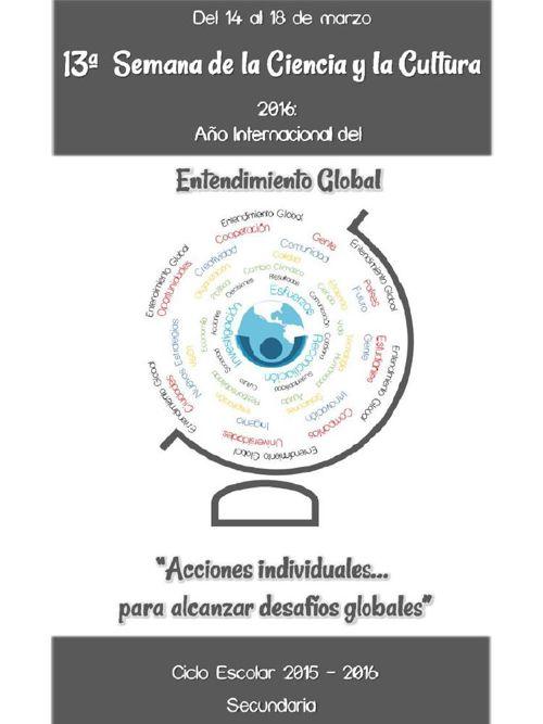 PROGRAMA DE LA 13a.SEMANA DE LA CIENCIA Y LA CULTURA 15-16