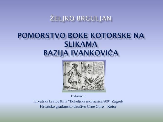 Pomorstvo Boke Kotorske na slikama Bazija Ivankovića