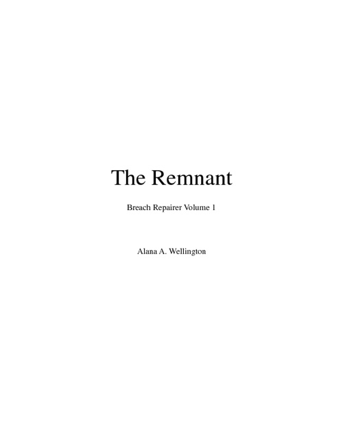 Copy of The Remnant - Sample Chapter