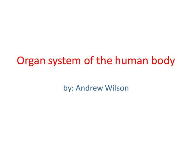 Wilson - Circulatory