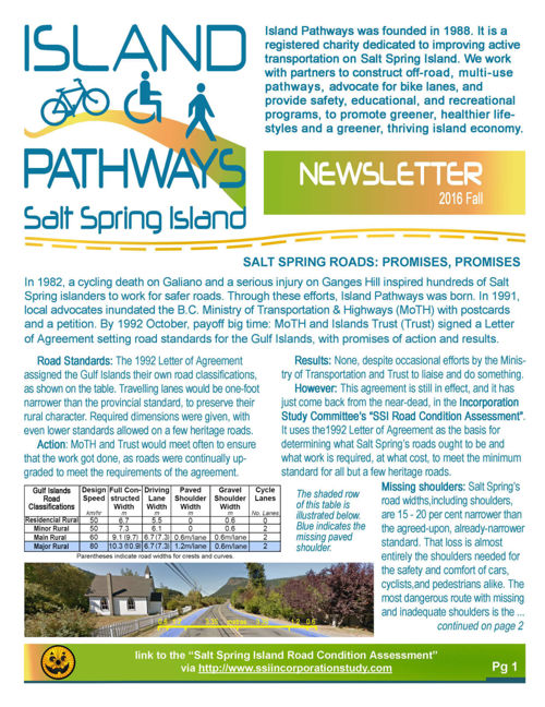 2016 Island-Pathways Fall Newsletter
