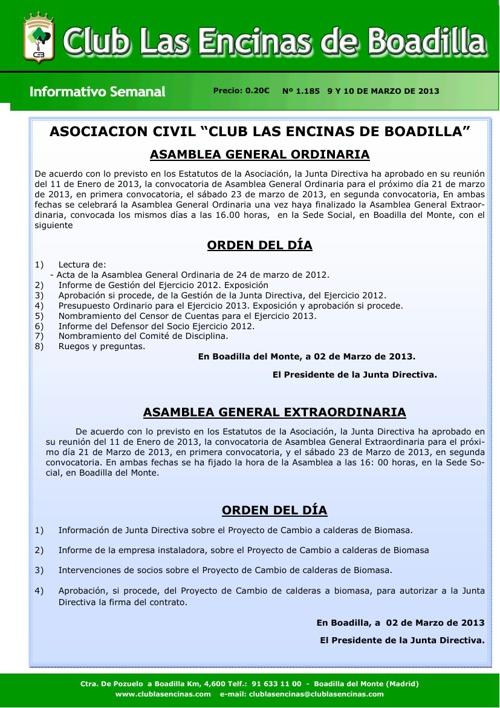 Boletín Club Las Encinas de Boadilla