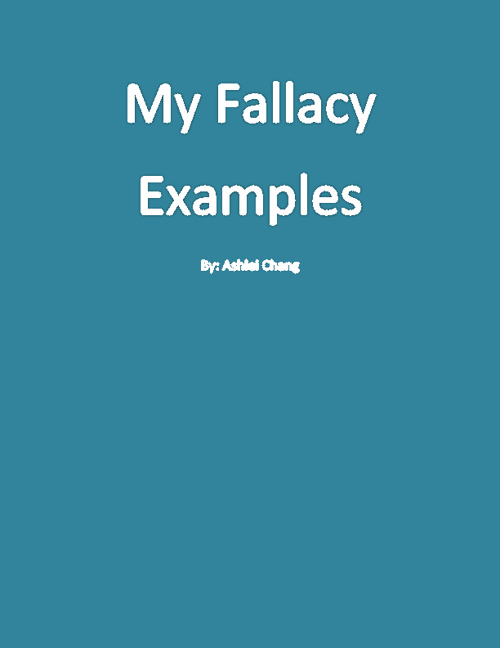Types Of Fallacies