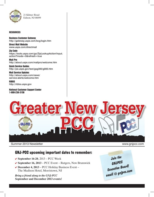 Summer 2013 PCC Newsletter
