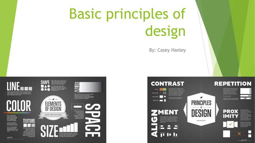 Basic principles of design Casey Hanley