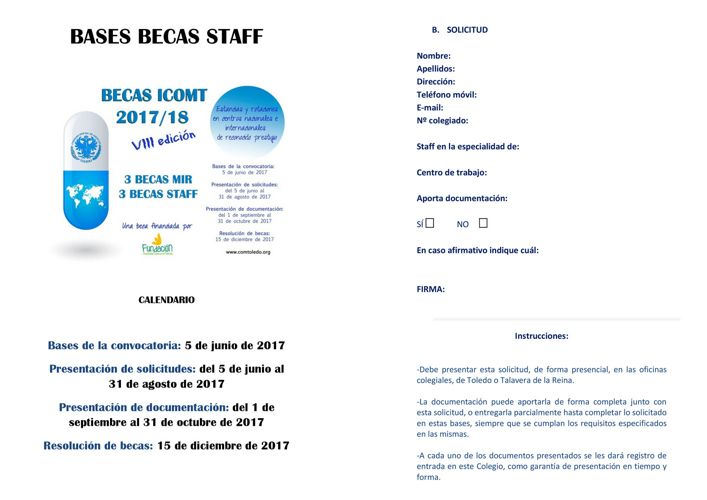 Bases becas STAFF 2017 18 ICOMT simple cara