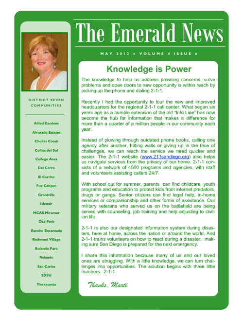 The Emerald News: Volume 4, Issue 6 (June 2012)