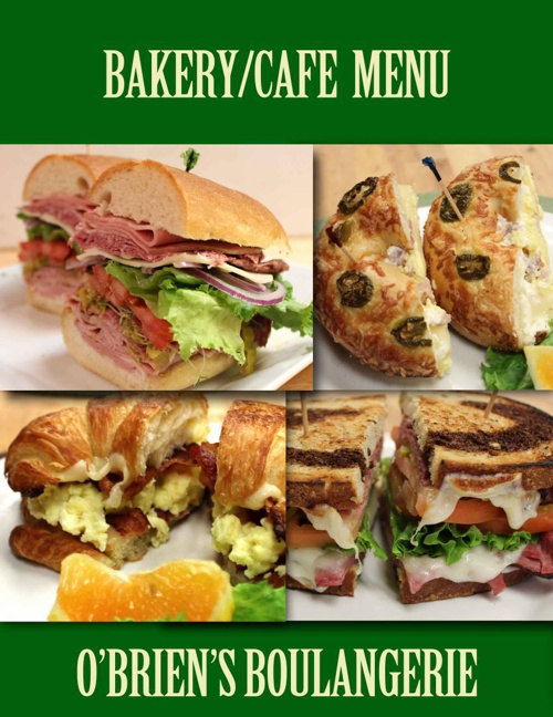 O'Brien's Cafe Menu