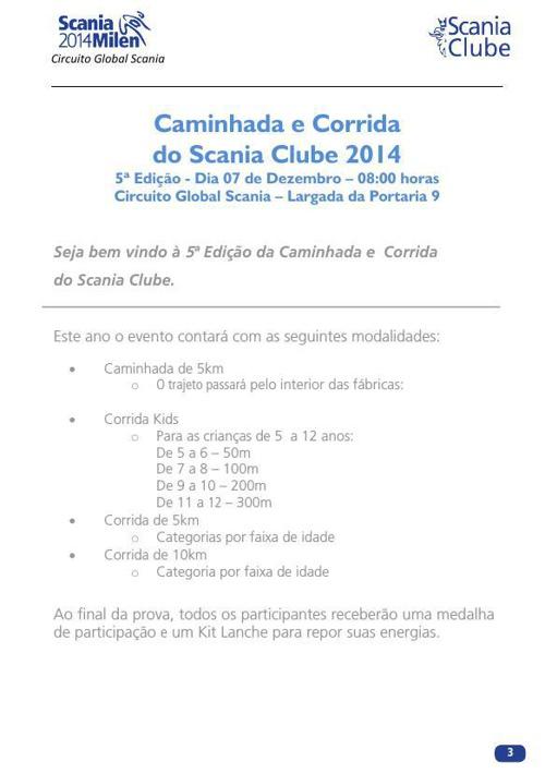 Corrida e Caminhada Scania Clube