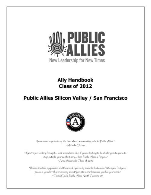 Ally HandBook Class of 2012
