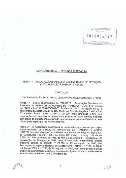 Estatuto Social - Segunda Alteração
