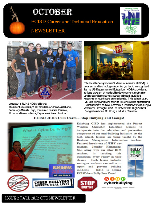 CTE Newsletter_October 2012
