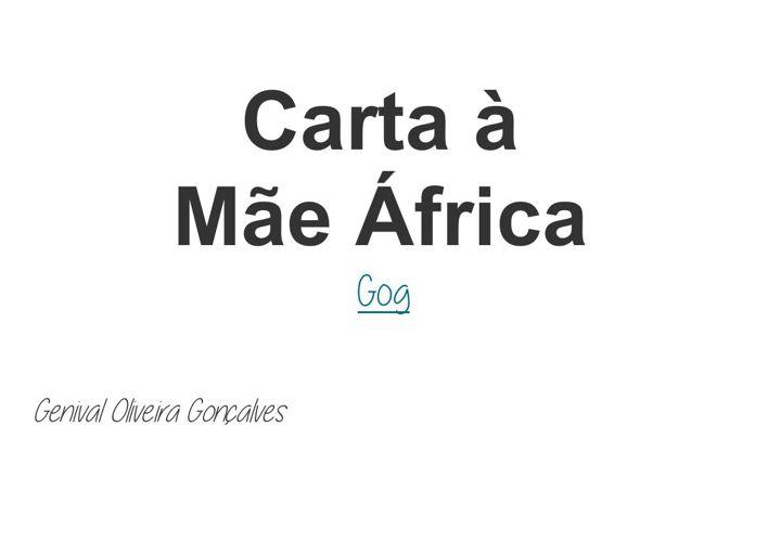 Carta à Mãe África