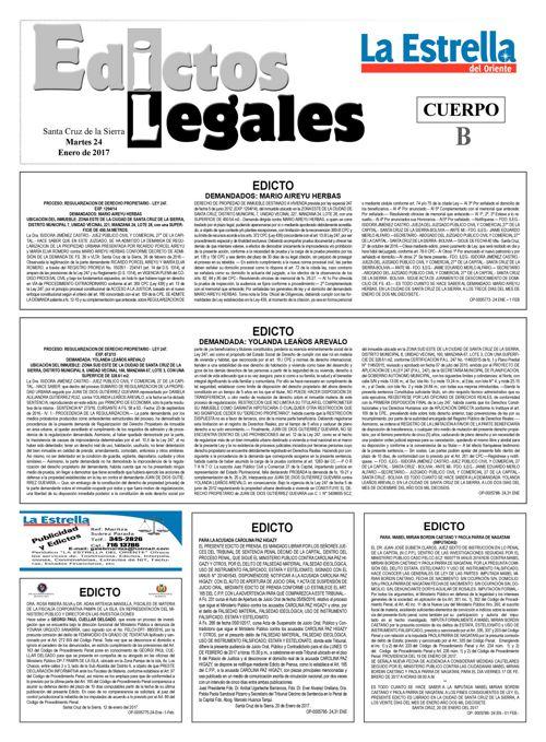 Judiciales 24 martes - enero 2017