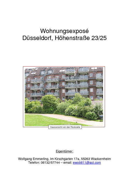 ETW, Düsseldorf, Höhenstraße 23