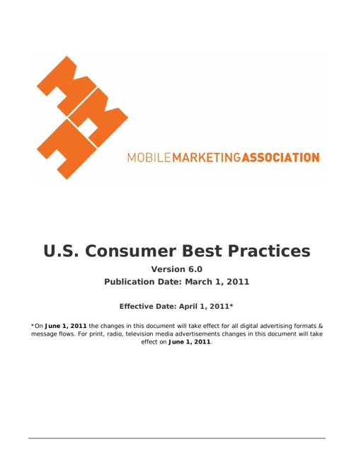 Triple dMedia - MMA: Mobile Marketing Consumer Best Practices
